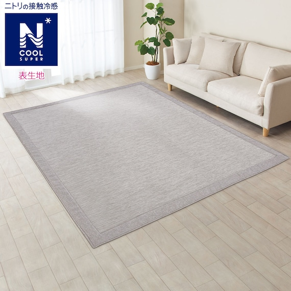 RoomClip商品情報 - 接触冷感ラグ(NクールSP q-o GY 200X240) ニトリ
